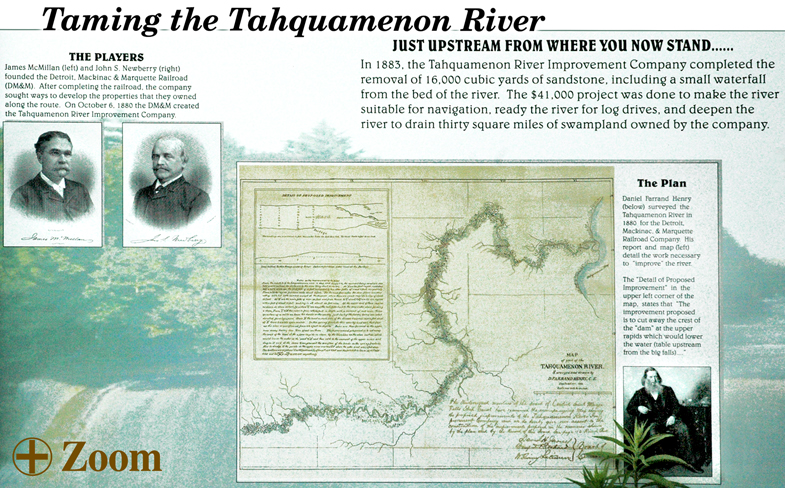 Taming the Tahquamenon River, History of the Tahquamenon River Leading to the Upper Tahquamenon Falls.